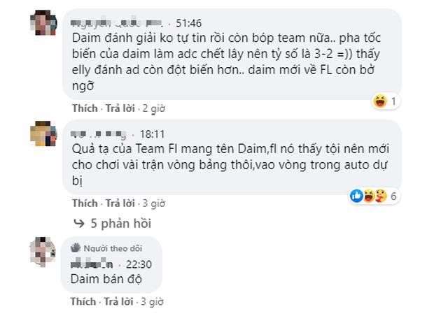 Bị fan chỉ trích dữ dội sau thất bại của Team Flash, Daim lên tiếng phản dame gay gắt ngay trên sóng stream - Ảnh 3.