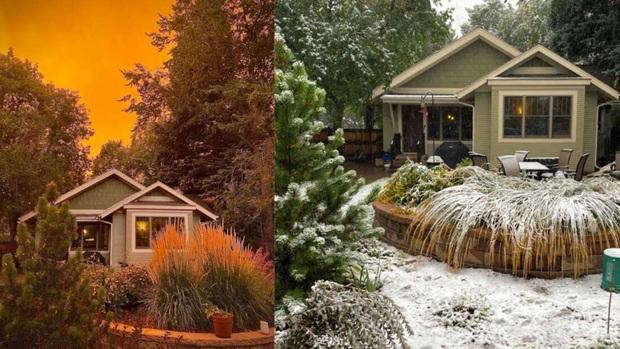 Một tiểu bang Mỹ vừa chứng kiến thời tiết quay xe gắt chưa từng thấy: Từ nóng kỷ lục chuyển thành bão tuyết trong vỏn vẹn 2 ngày - Ảnh 1.