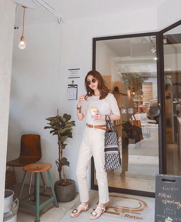 12 set đồ đơn giản mà cực sang xịn của gái châu Á, xem qua bạn sẽ không bao giờ bí ý tưởng mặc đẹp - Ảnh 23.