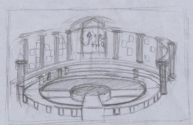 Sau 20 năm, trường quay Olympia lột xác ngoạn mục, sang xịn hơn hẳn bản thiết kế vẽ tay đời cũ - Ảnh 1.