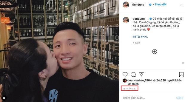 Tròn 1 tháng trước nghi vấn rạn nứt tình cảm, Tiến Dũng vẫn đăng ảnh tình tứ với Khánh Linh - Ảnh 1.