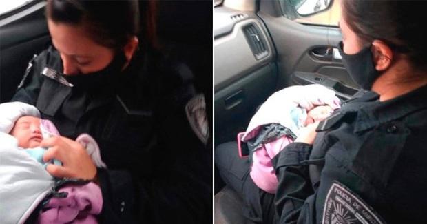 Bé gái sơ sinh Argentina bị bỏ rơi với con dao trên lưng - Ảnh 1.