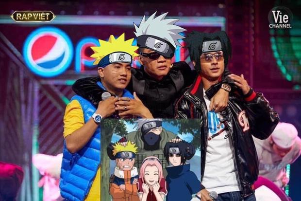 """Thầy trò Wowy của Rap Việt """"biến thân"""" thành Naruto, netizen hú gọi Binz """"tóc hồng"""" nhập bọn cho xôm tụ - Ảnh 2."""