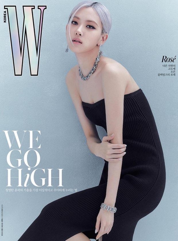 Từ giờ hãy gọi Rosé là minh tinh: Chưa bao giờ sang chảnh đến thế trên bìa tạp chí, diện trang sức tiền tỷ áp đảo đồng đội - Ảnh 2.
