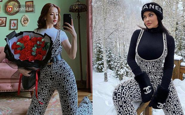 Hình như Chi Pu coi Kylie Jenner là idol thời trang thì phải: Hết lên đồ sexy y chang đến học theo cách pose hình phồn thực - Ảnh 2.