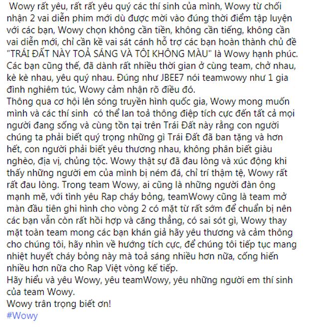 Wowy đã từ chối 2 phim mới để kề vai sát cánh cùng học trò tại Rap Việt - Ảnh 3.