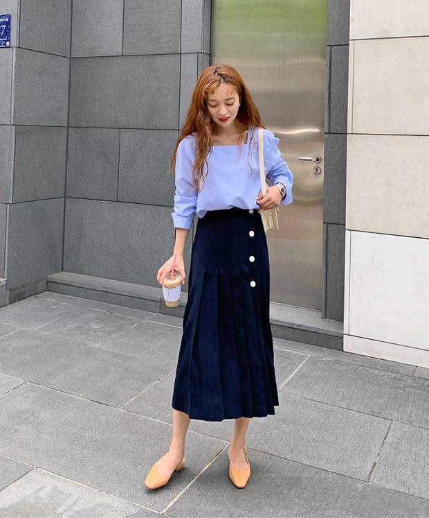 Áo blouse trơn màu đúng là chân ái của nàng công sở, có đến 10 cách diện sang xịn hết cỡ - Ảnh 3.