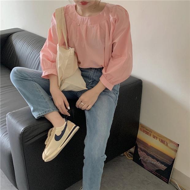 Áo blouse trơn màu đúng là chân ái của nàng công sở, có đến 10 cách diện sang xịn hết cỡ - Ảnh 8.