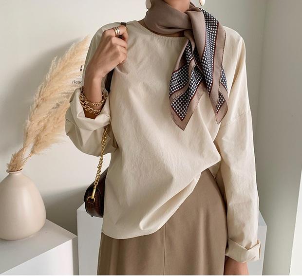 Áo blouse trơn màu đúng là chân ái của nàng công sở, có đến 10 cách diện sang xịn hết cỡ - Ảnh 9.