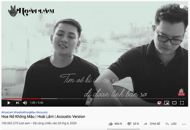 Sau gần 3 tháng, Hoa Nở Không Màu của Hoài Lâm xuất sắc cán mốc 100 triệu view, MV mới cũng đạt #10 trending YouTube - Ảnh 2.