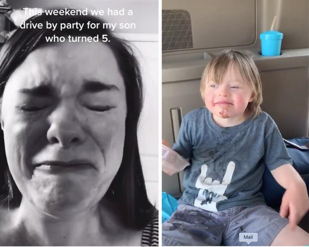 Bày tiệc sinh nhật cho con mắc Hội chứng Down nhưng chỉ có 1 bạn đến dự, bà mẹ quay clip khóc ròng vì thương con thu hút 7 triệu lượt xem - Ảnh 1.