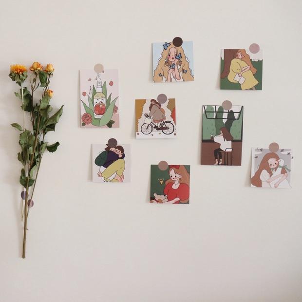 Chỉ 49k mà khiến phòng ốc nghệ nghệ như Hàn Quốc, thẻ tranh treo tường chính là món decor hội nghiện nhà phải sắm  - Ảnh 8.