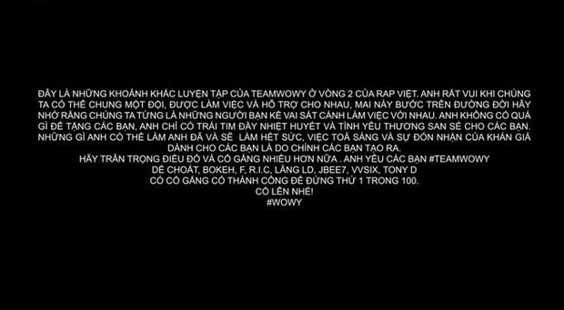 Wowy chia sẻ khoảnh khắc cả team tập luyện cho vòng 2 Rap Việt, không quên cảm ơn cả... loa kẹo kéo của JBee7 lẫn xe hơi của B:OKEH - Ảnh 5.