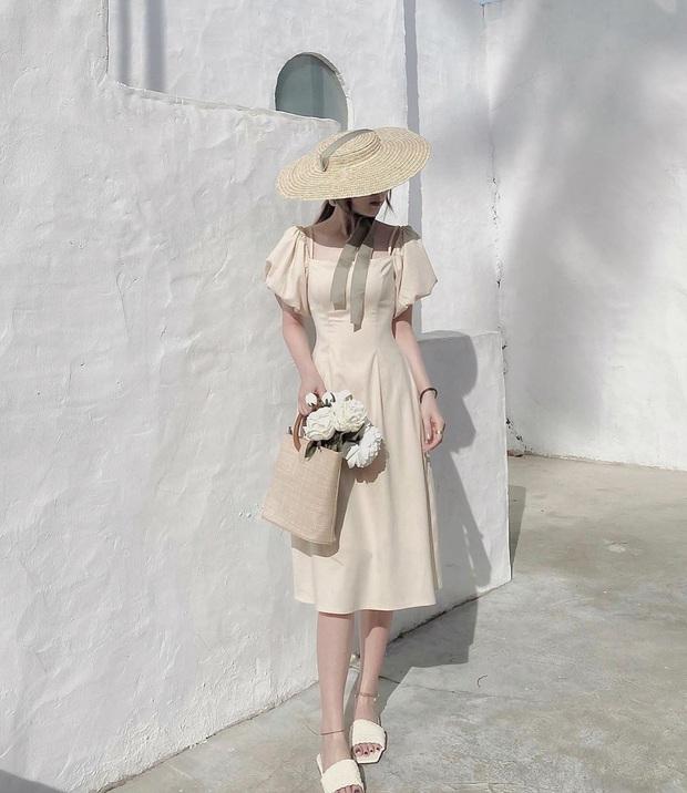 Thu về diện váy tay bồng là chuẩn nhất, nàng nào mặc lên cũng xinh như nàng thơ  - Ảnh 1.