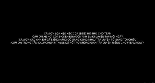Wowy chia sẻ khoảnh khắc cả team tập luyện cho vòng 2 Rap Việt, không quên cảm ơn cả... loa kẹo kéo của JBee7 lẫn xe hơi của B:OKEH - Ảnh 6.