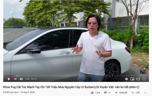 """Khoa Pug chơi cực lớn trong ngày trở lại: Chi 100 triệu mua đồ hiệu, đầu tư siêu xe """"khủng"""" giá gần 2 tỷ để du lịch xuyên Việt - Ảnh 1."""