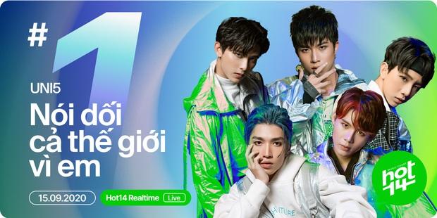 Hát EDM giữa làn sóng ballad, đầu tư MV khủng lên đến 2 tỉ đồng - Uni5 có ngay vị trí #1 realtime HOT14 đầu tiên sau vài giờ phát hành! - Ảnh 1.