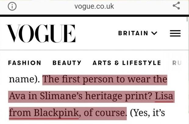 Lisa được đeo túi mới của Celine trước cả thế giới tận 9 tháng, đến Vogue Anh cũng phải chú ý - Ảnh 2.
