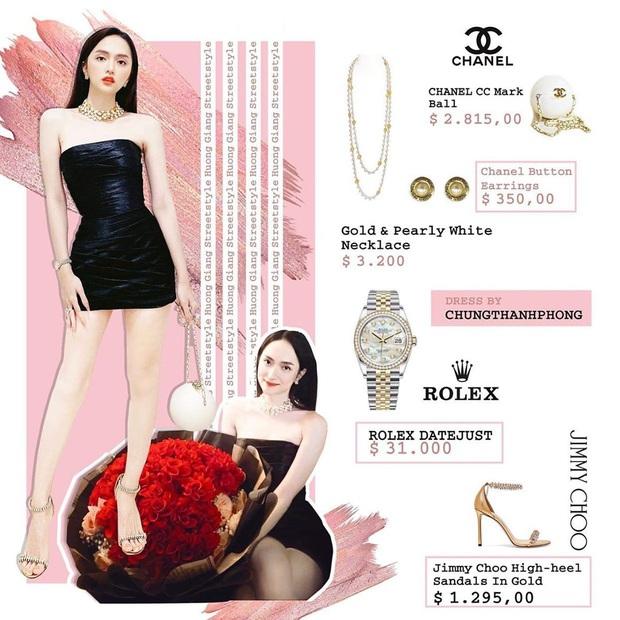 Bóc giá loạt outfit của Hương Giang từ khi hẹn hò Matt Liu: Cây nào cũng trăm triệu, đồng hồ gần tỷ đeo như cơm bữa - Ảnh 5.