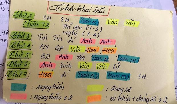 Những cách ghi thời khoá biểu hại não của học trò: Full tiếng Anh, ký tự ví von đỉnh cao, có cả thực đơn môn học - Ảnh 2.