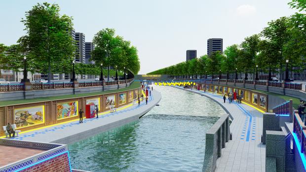 Đề xuất phương án biến sông Tô Lịch trở thành Công viên Lịch sử - Văn hoá - Tâm linh - Ảnh 2.