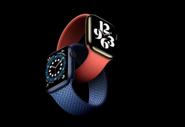 Apple Watch Series 6 gây ấn tượng với 2 màu mới xanh navy và đỏ, giá bán từ 399 USD - Ảnh 1.