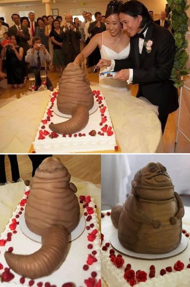 Những chiếc bánh cưới hắc ám khiến cô dâu, chú rể chán không buồn về chung một nhà nữa - Ảnh 1.