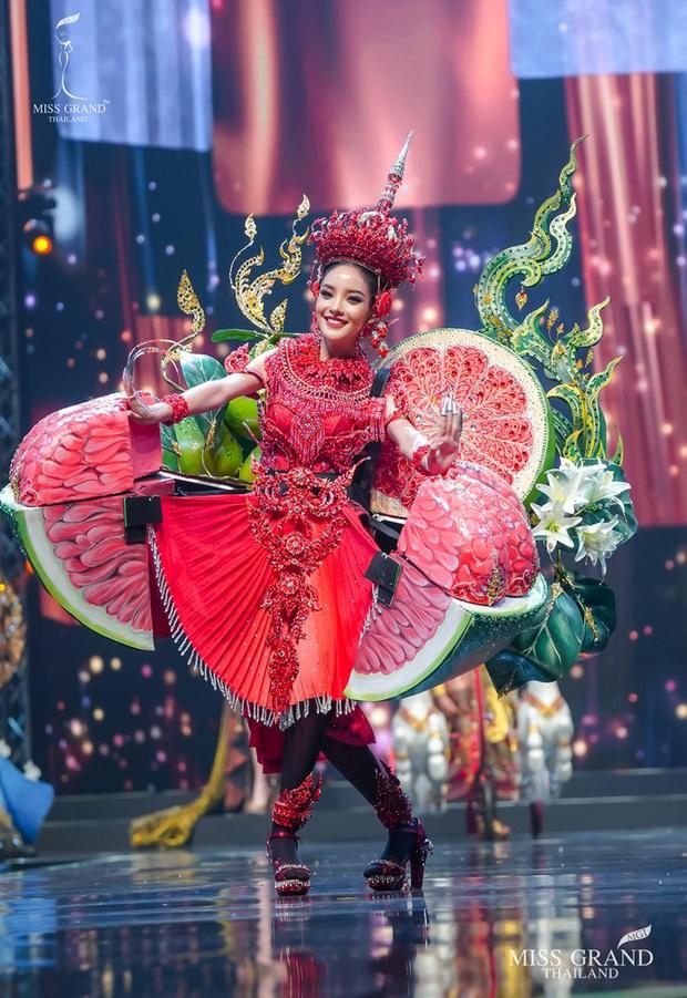 MXH náo loạn vì quốc phục có 1-0-2 tại Miss Grand ThaiLand 2020: Hết chợ nổi, bưởi da xanh đến... xương khủng long đem hết lên sân khấu - Ảnh 4.