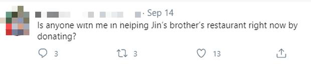 Hay tin nhà hàng của Jin (BTS) đang gặp khó khăn, fan rủ nhau đến giải cứu, còn kêu gọi quyên góp để ủng hộ idol - Ảnh 6.