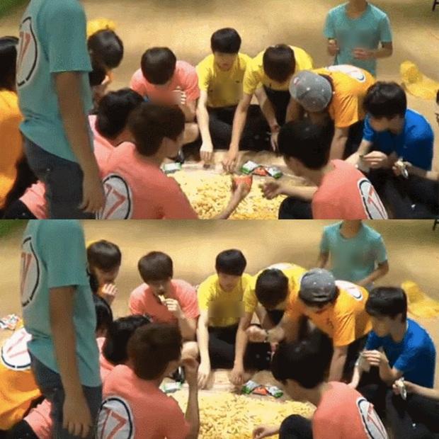 """Netizens xôn xao với cảnh một nhóm nam idol Kpop ăn đồ ăn """"chất đống trên sàn nhà"""", thực hư như thế nào? - Ảnh 3."""