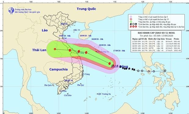 Bão số 5 di chuyển nhanh, giật cấp 13 hướng vào miền Trung gây mưa lớn trên cả nước - Ảnh 1.