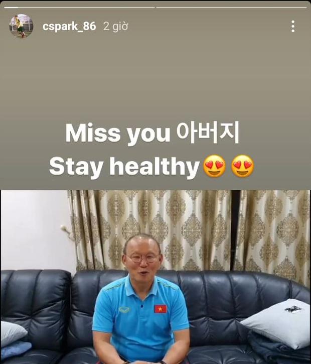 Con trai HLV Park Hang-seo bày tỏ nỗi nhớ bố khi ngày sinh nhật đã cận kề - Ảnh 1.