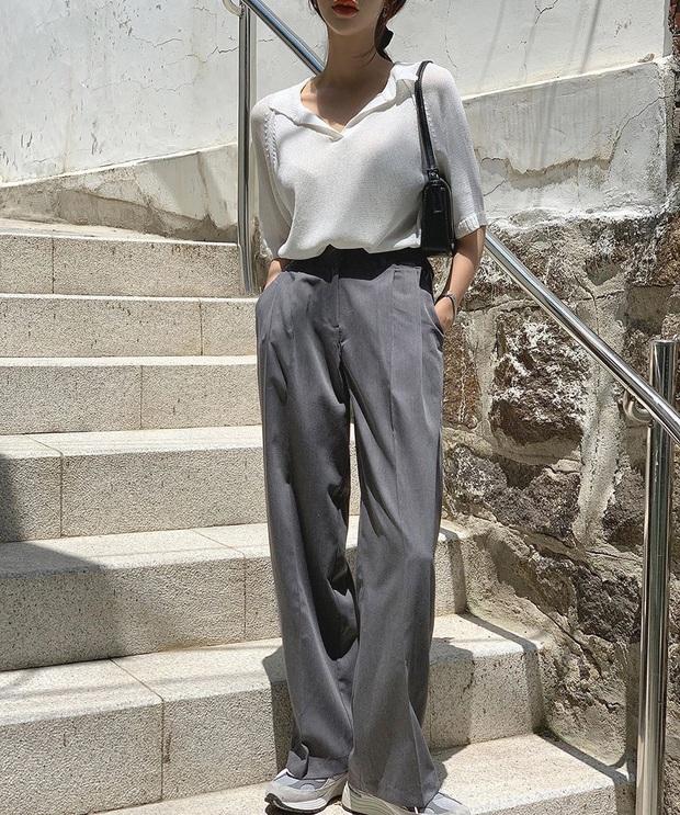 Mix quần âu ống rộng với loạt kiểu áo sau, cô gái nào cũng được khen style xinh, dáng đẹp - Ảnh 5.
