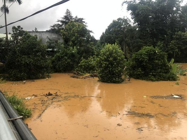 Cảnh sát dũng cảm đi dây trên dòng lũ lớn, cứu 9 người mắc kẹt ở huyện miền núi Quảng Nam - Ảnh 4.