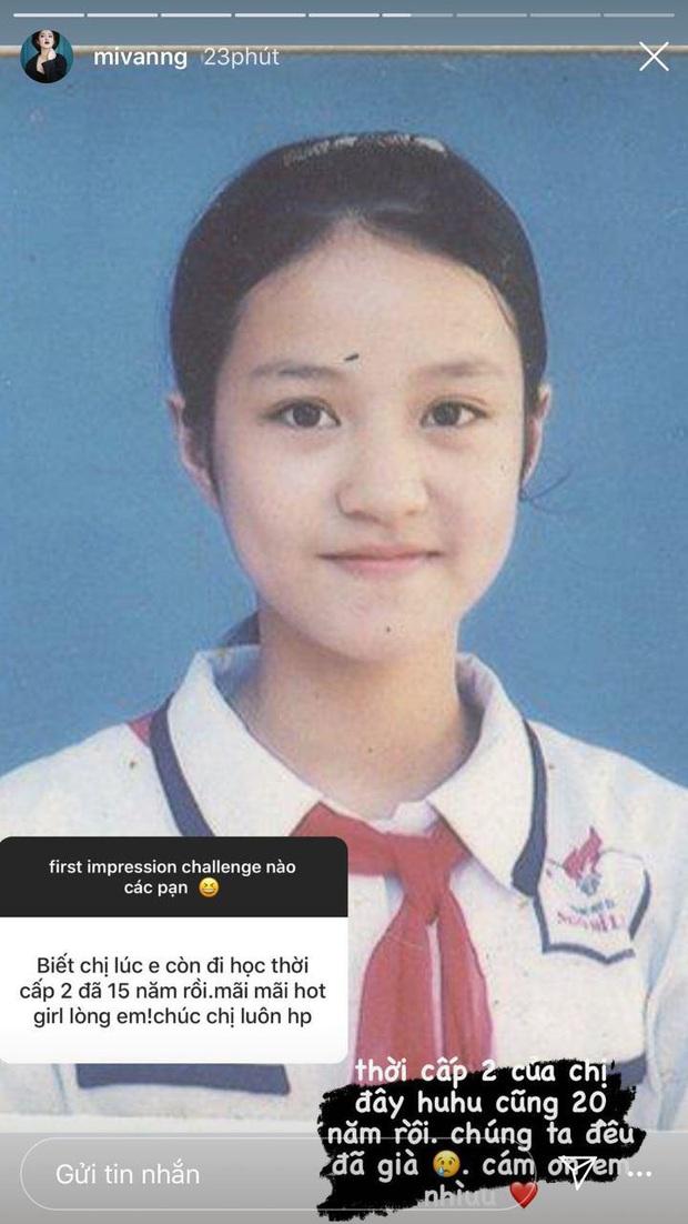 Mi Vân khoe ảnh thẻ hồi cấp 2, vị trí tượng đài nhan sắc làng hot girl xem chừng khó vào tay người khác - Ảnh 1.