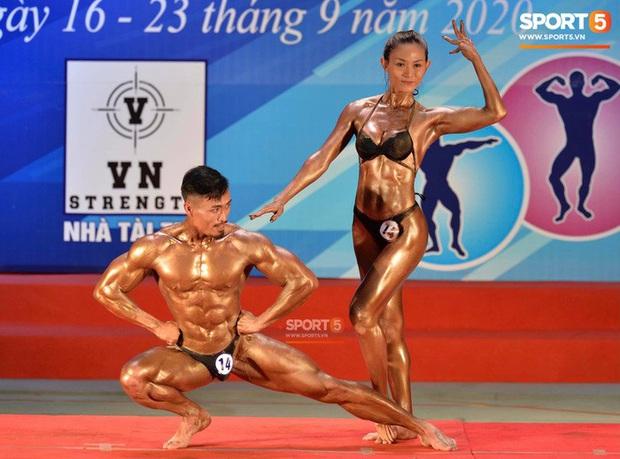 Hot TikToker Phan Bảo Long giành HCV thể hình đôi nam nữ quốc gia - Ảnh 2.