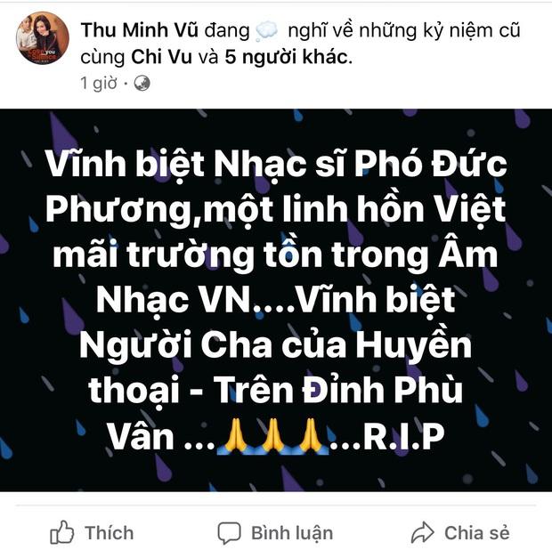 Tùng Dương, Thu Minh và dàn sao Vbiz xót thương khi hay tin nhạc sĩ Phó Đức Phương qua đời: Âm nhạc của ông sẽ luôn sống mãi! - Ảnh 6.