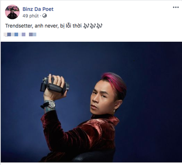Binz nhá hàng câu lyrics gọi mình là trendsetter các kiểu, fan lập tức cà khịa chê cách tạo dáng lỗi thời tại Rap Việt - Ảnh 1.
