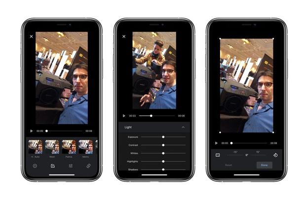Google Photos trên iOS có cập nhật mới, chỉnh sửa video cực mượt mà, xịn xò - Ảnh 2.