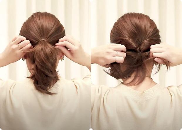 Tóc lỡ cỡ vẫn búi được kiểu Hàn siêu xinh: 3 cách búi thấp giúp chị em lên hương nhan sắc chỉ trong 1 nốt nhạc - Ảnh 10.