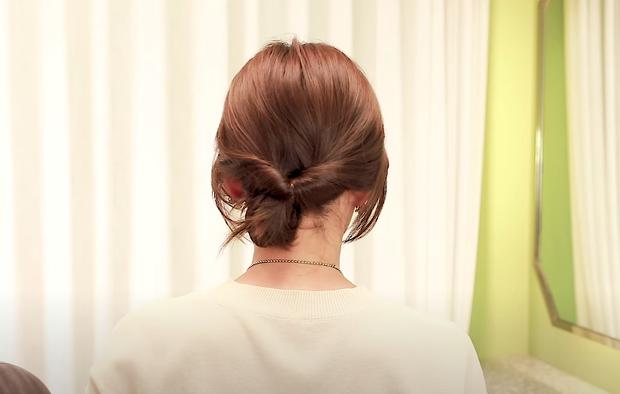 Tóc lỡ cỡ vẫn búi được kiểu Hàn siêu xinh: 3 cách búi thấp giúp chị em lên hương nhan sắc chỉ trong 1 nốt nhạc - Ảnh 12.