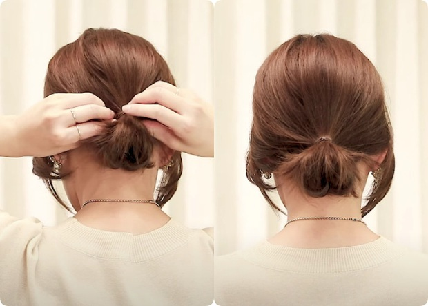 Tóc lỡ cỡ vẫn búi được kiểu Hàn siêu xinh: 3 cách búi thấp giúp chị em lên hương nhan sắc chỉ trong 1 nốt nhạc - Ảnh 5.