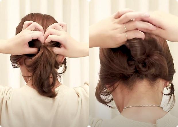 Tóc lỡ cỡ vẫn búi được kiểu Hàn siêu xinh: 3 cách búi thấp giúp chị em lên hương nhan sắc chỉ trong 1 nốt nhạc - Ảnh 6.