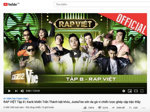 Team Karik giúp Rap Việt có thêm top 1 trending, Wowy lại tiếc nuối cho đội của mình - Ảnh 1.