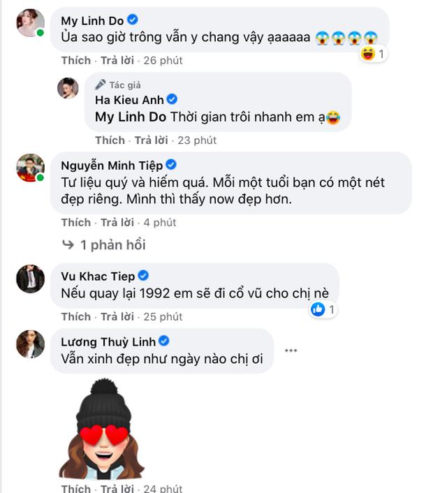 Hoa hậu Hà Kiều Anh khoe clip đăng quang 28 năm trước, Đỗ Mỹ Linh - Vũ Khắp Tiệp và dàn sao Việt rần rần comment - Ảnh 6.