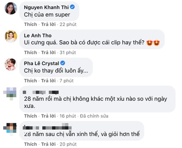 Hoa hậu Hà Kiều Anh khoe clip đăng quang 28 năm trước, Đỗ Mỹ Linh - Vũ Khắp Tiệp và dàn sao Việt rần rần comment - Ảnh 7.
