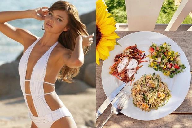 Để giảm cân hiệu quả và da dẻ hồng hào, bạn cứ học Miranda Kerr hay Kate Upton ăn salad mỗi ngày - Ảnh 1.