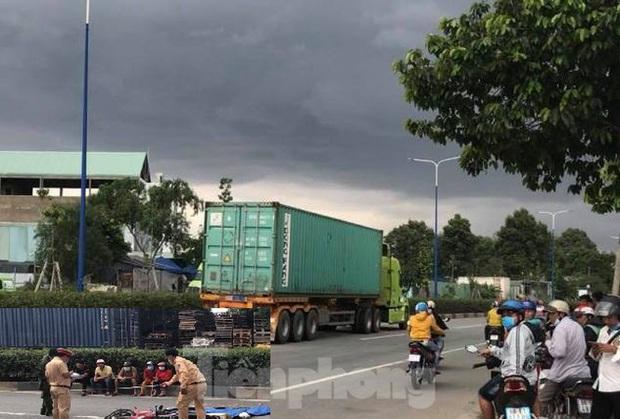 Va chạm với xe container, hai người đàn ông chết tại chỗ - Ảnh 1.