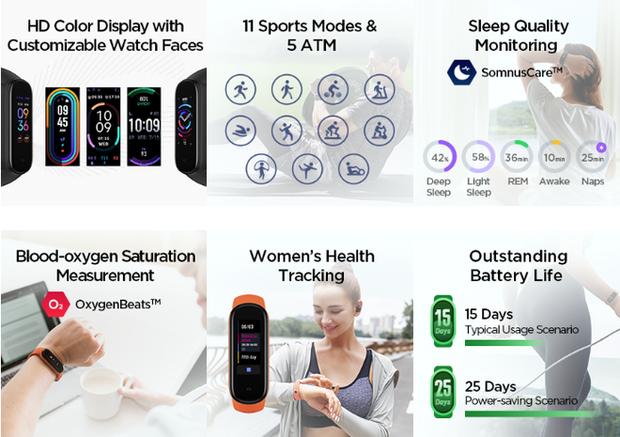 Xiaomi ra mắt Amazfit Band 5: Đo Oxy trong máu như Apple Watch Series 6, rẻ gấp 6 lần - Ảnh 3.