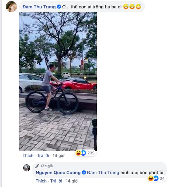 """Cường Đô La đăng ảnh than phải chăm con cho vợ lái siêu xe đi chơi, Đàm Thu Trang tung luôn bằng chứng """"tố ngược"""" đâu kém - Ảnh 3."""